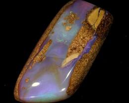 20ct 30x14mm Pipe Wood Fossil Boulder Opal  [LOB-840]