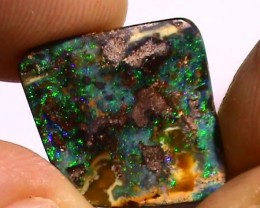 7.90 ct Boulder Opal Natural Pin Fire Blue Green Color