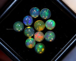 NR Auction ~ 1.52cts Round 4mm Welo Opal Parcel Lot