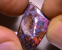 8.75 ct Gem Multi Color Natural Queensland Boulder Opal