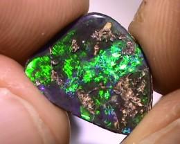 3.90 ct Boulder Opal Natural Gem Blue Green Color