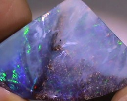 35.80 ct Multi Color Natural Queensland Boulder Opal