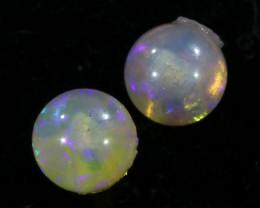 Cute Crystal Opal set in 18k yellow gold Earring CF1529
