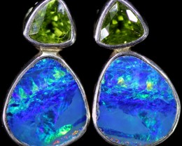 GEM OPAL DOUBLET WITH PERIDOT [SOJ5986]