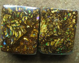 "23cts.""BOULDER MATRIX OPAL~GEM PAIR"""
