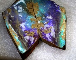 409CTS BOULDER OPAL ROUGH SPLITS DT-7536