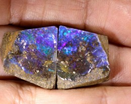 34.3CTS BOULDER OPAL ROUGH SPLITS DT-7537