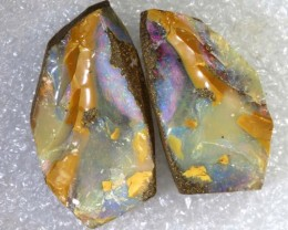 87.2CTS BOULDER OPAL ROUGH SPLITS DT- 7538