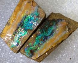 91.7CTS BOULDER OPAL ROUGH SPLITS DT-7533