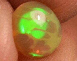 0.70 Cts Ethiopian Welo Fire Opal Cabochon Natural No Reserve