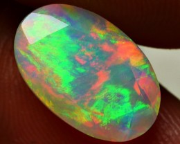 2.50 CRT GORGEOUS FACETED MULTI FIRE PLAY COLOR WELO OPAL