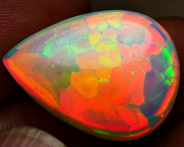12.40 CRT EXTREME BRIGHT PERFECT GOLDEN NEON HONEYCOMB PATTERN WELO OPAL