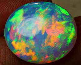 9.85 CRT AMAZING BEAUTY ROLLING PUZZLE FIRE PLAY COLOR WELO OPAL