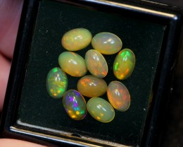 NR~ 2.98cts Oval 6x4mm Welo Opal Parcel Lot