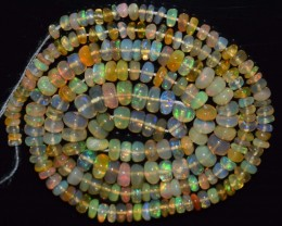 34.05 Ct Natural Ethiopian Welo Opal Beads Play Of Color