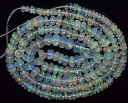 31.90 Ct Natural Ethiopian Welo Opal Beads Play Of Color