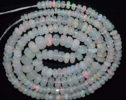 29.30 Ct Natural Ethiopian Welo Opal Beads Play Of Color