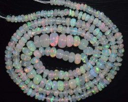 25.25 Ct Natural Ethiopian Welo Opal Beads Play Of Color