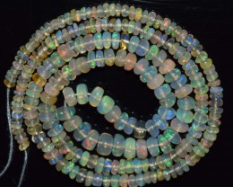 33.15 Ct Natural Ethiopian Welo Opal Beads Play Of Color