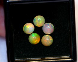 NR Auction ~ 1.70cts Round 5mm Welo Opal Parcel Lot