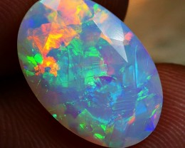 3.35 CRT BEAUTYFUL FACETED 3D MILK WELO CHAFF PATTERN WELO OPAL