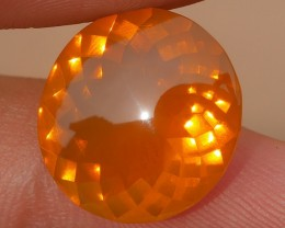 6.60 CRT BEAUTIFUL ORANGE COLOR INDONESIAN FIRE OPAL FACETED