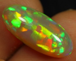 8.20cts TOP 5/5 CORAL PATTERN Natural Untreated Ethiopian Welo Opal