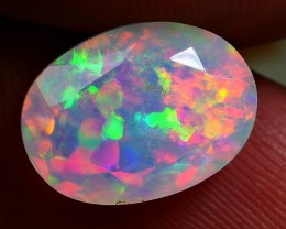 2.90 CRT BEAUTIFUL FACATED HEXAGANAL PUZZLE FIRE WELO OPAL