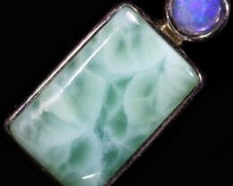 13.25 CTS LARIMAR WITH SOLID OPAL PENDANT [SOJ6014]5
