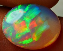 3.60 CRT STUNNING DOUBLE RIBBON PATTERN RAINBOW COLOR WELO OPAL