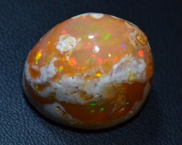 30ct Natural Mexican Matrix Cantera  Multicoloured Fire Opal