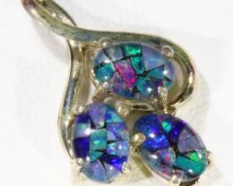 Top Mosic Triplet opal pendant QOM1658