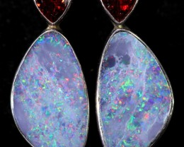 22.60 CTS OPAL DOUBLET WITH GARNET [SOJ6046]