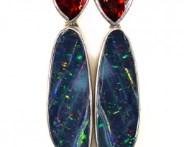 18.35 CTS OPAL DOUBLET WITH GARNET [SOJ6053]