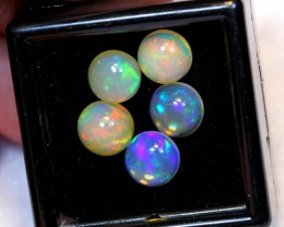 NR~ 4.36cts Round 7mm Welo Opal Parcel Lot