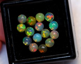 NR~ 2.54cts Round 4mm Welo Opal Parcel Lot