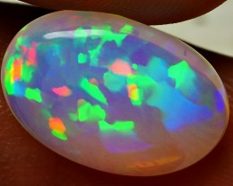 3.65 CRT AMAZING CRYSTAL CLEAR RAINBOW HOLOGRAM PIN FIRE PATTERN WELO OPAL
