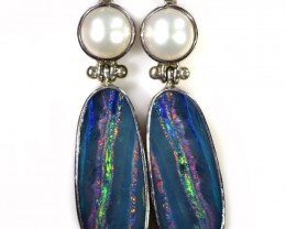 48.95 CTS OPAL DOUBLET WITH PEARL [SOJ6056]