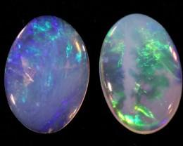 Pair Nice Crystal  opals QOM 1666