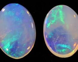 Pair Nice Crystal  opals QOM 1672