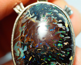 42.40CT  KOROIT PENDANT WITH BOULDER OPAL   SS0482