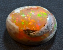 14ct Natural Mexican Matrix Cantera Multicoloured Fire Opal