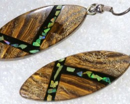 17.25CTS BOULDER OPAL EARRINGS  OF-2106