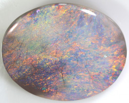 N6 - 15.4CTS QUALITY SEMI BLACK SOLID OPAL LIGHTNINGRIDGE INV-887
