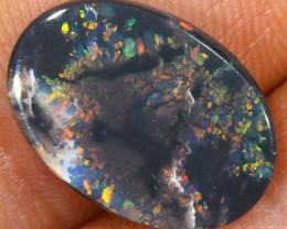 4ct 16x11mm Solid Lightning Ridge Black Opal [LO-868]