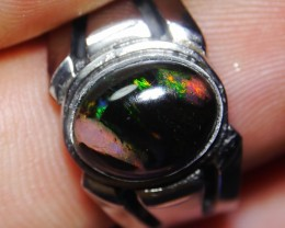 27.75 Ct Unique Motif Indonesian Wood Fossil Opal With Unique Ring