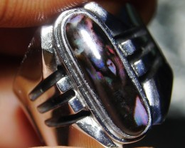 43.15 Ct Polished Indonesian Wood Fossil Opal With Unique Ring
