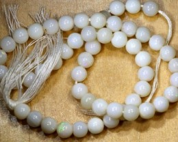 30.5CTS WHITE OPAL BEADS  LO-4652