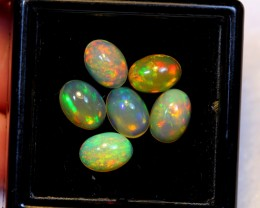 NR Auction ~ 3.07cts Oval 7x5mm Welo Opal Parcel Lot