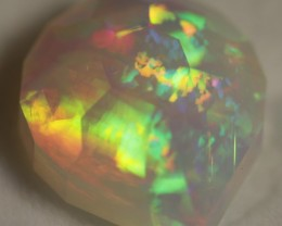 This stone has very bright color bars that revolve inside the stone, please see video.